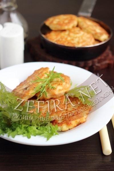 Оладьи из куриного филе с манкой - рецепт и фото