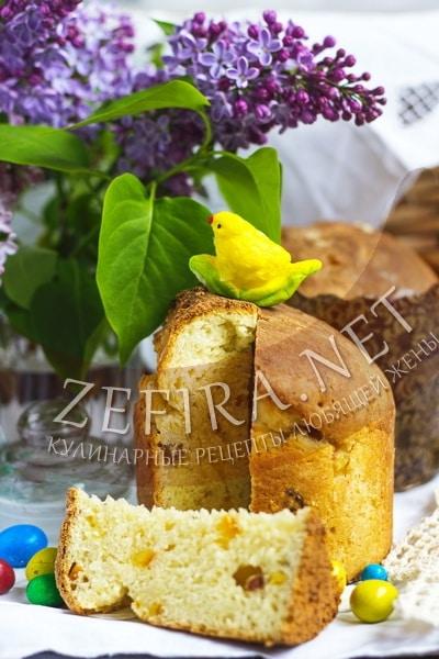 Пасхальный кулич из творога - рецепт и фото
