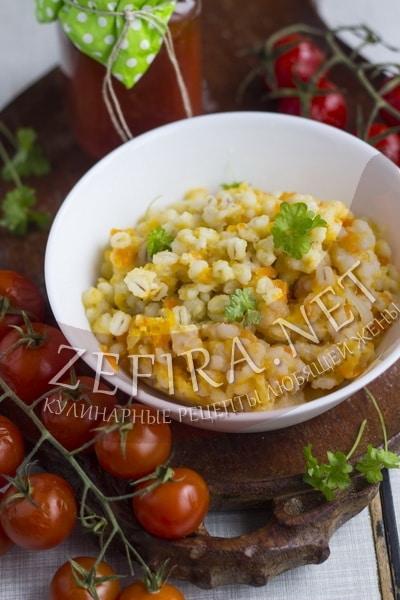 Перловка с овощами - рецепт и фото