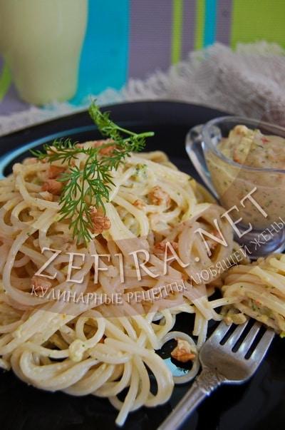 Спагетти с брокколи и сливочным соусом - рецепт и фото