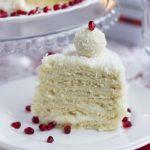 Торт «Рафаэлло» с коржами из творога