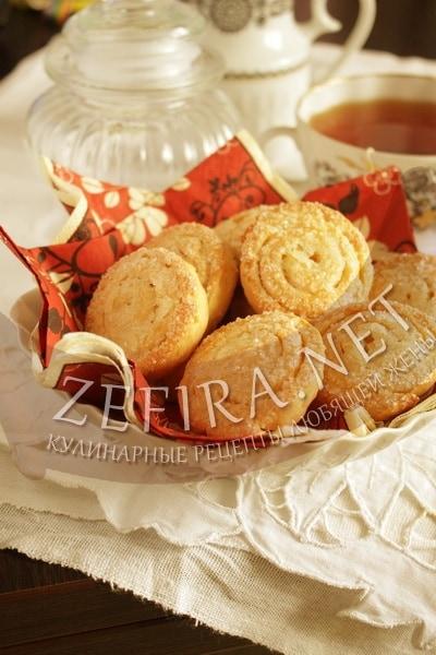Творожное печенье улитки с сахаром - рецепт и фото