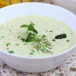Диетический холодный суп из кабачков