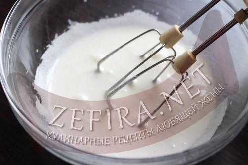 Кексы на кефире с шоколадом внутри - шаг 1 приготовления