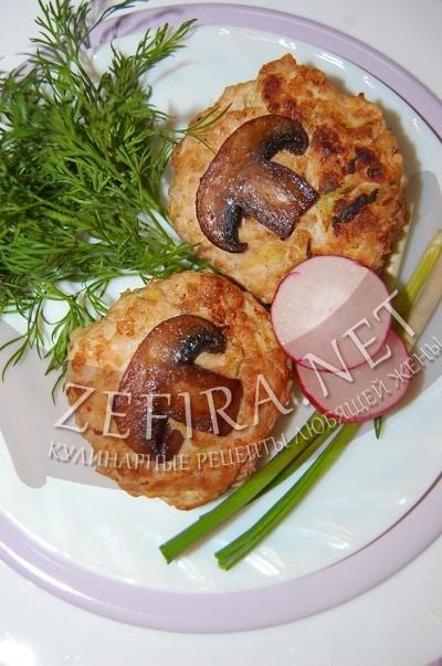котлеты из кабачков и грибов рецепт
