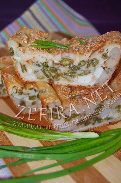 Наливной пирог с яйцом - рецепт и фото