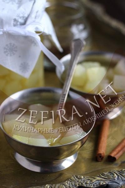 Рецепт компота из кабачков на зиму с фото