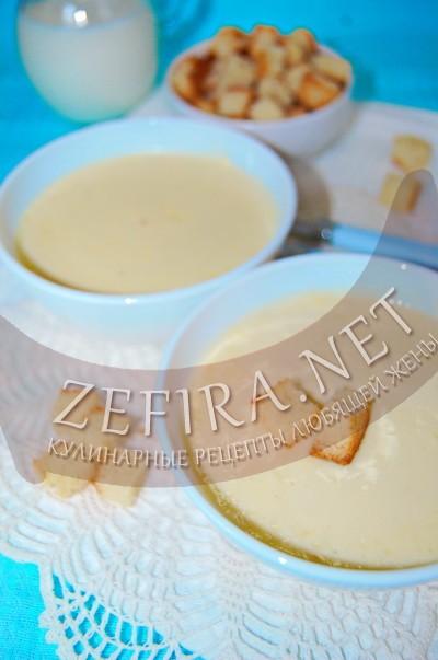 Сливочный суп с плавленным сыром - рецепт и фото
