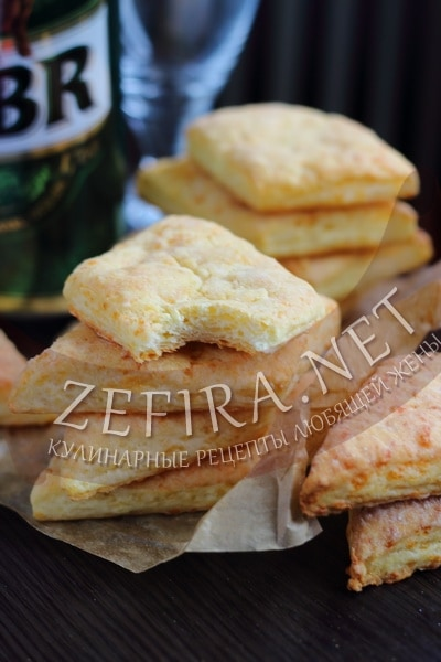 Слоеное печенье с сыром - рецепт и фото