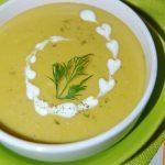 Суп-пюре из замороженного горошка