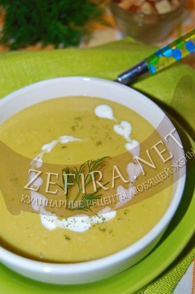 Суп-пюре из замороженного горошка - рецепт и фото