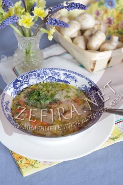 Сырный суп с шампиньонами - рецепт и фото