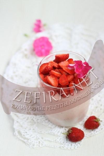 Десерт Клубника со сливками - рецепт и фото