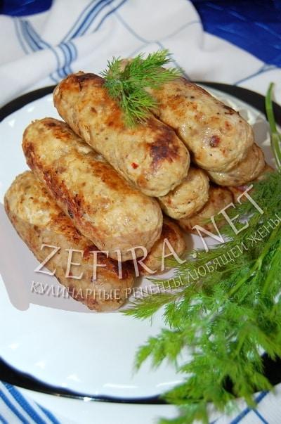 Домашние колбаски из мясного фарша без кишок - рецепт и фото