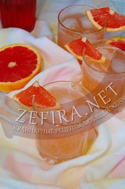 Домашний цитрусовый лимонад из грейпфрута - рецепт и фото
