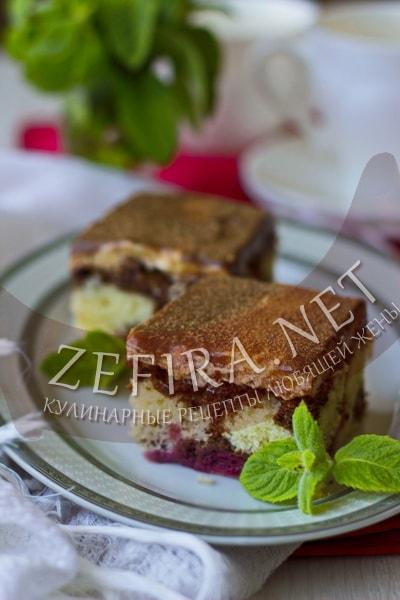 Пирог дунайские волны с вишней - рецепт и фото