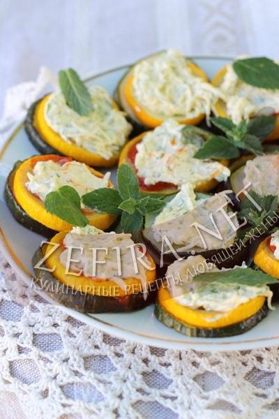 Кабачки с сыром и зеленью - рецепт и фото