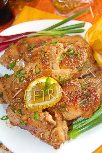 Курица с апельсином и медом в духовке - рецепт и фото