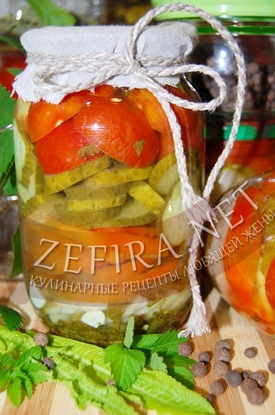 Овощной салат на зиму – рецепт без масла и фото