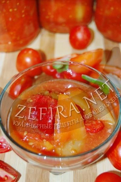 Перец в томатном соусе на зиму - рецепт и фото