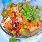 Соте из курицы с замороженными овощами