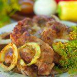 Стейк из свинины на мангале в цитрусовом маринаде