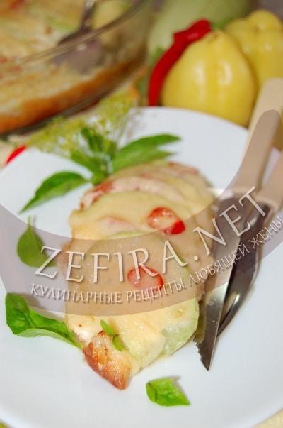 Запеканка из кабачков и помидоров с сыром - рецепт и фото