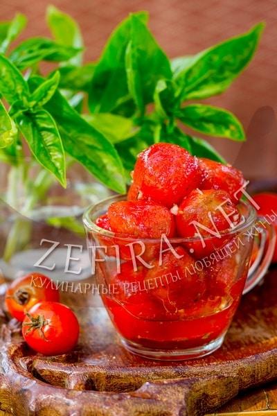 Быстро маринованные помидоры черри – рецепт и фото