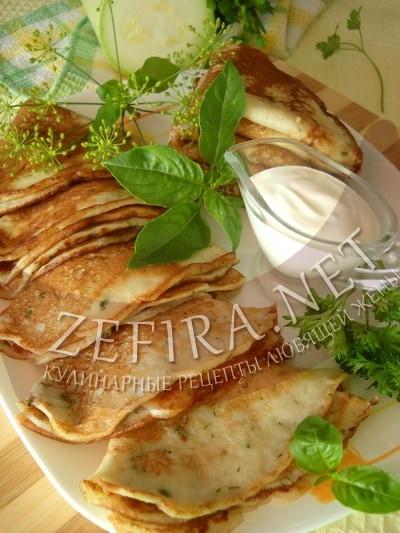 Кабачковые блины – рецепт с кефиром фото
