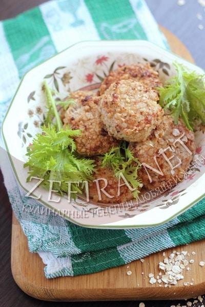 Котлеты из индейки - рецепт с кабачком и овсянкой фото