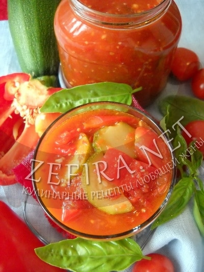 Рецепт салата из кабачков, помидоров и перца на зиму - рецепт и фотоna-zimu
