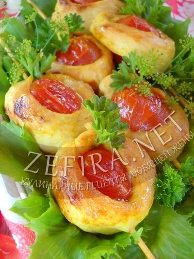 Шашлык из курицы с помидорами черри - рецепт и фото