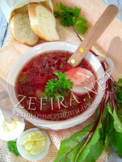 Дачный суп с крапивой, щавелем и свекольной ботвой - рецепт и фото