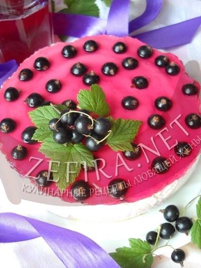 Творожно–йогуртный бисквитный торт  - рецепт и фото