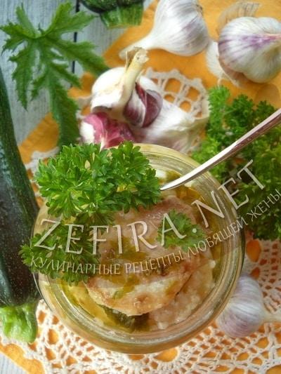 Заготовка из жареных кабачков на зиму - рецепт и фото