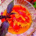 Зимний салат из помидоров и болгарского перца с луком - рецепт на зиму с фото
