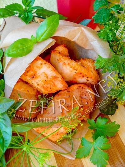 Кусочки филе курицы в маринаде на сковороде - рецепт и фото