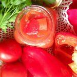 Лечо из перца и помидоров через мясорубку