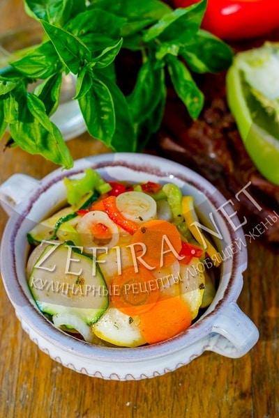 Острые кабачки с уксусом и маслом на зиму - рецепт и фото