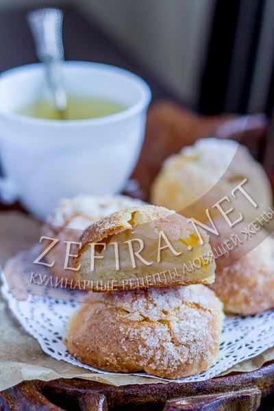 """Печенье с половинками яблок """"Румяные щечки"""" - рецепт и фото"""
