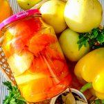Болгарский перец, маринованный с яблоками на зиму