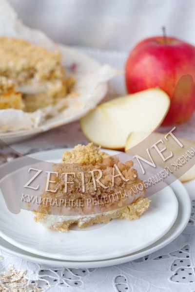 Пирог из овсянки с яблоками - рецепт и фото