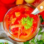 Салат из помидор, перца, моркови и лука на зиму