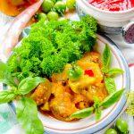Салат из зеленых помидоров в омате на зиму