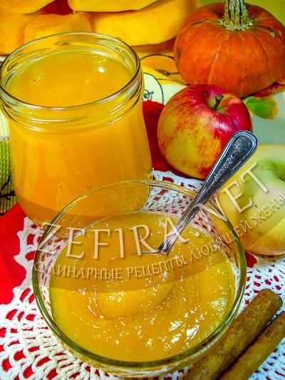 Джем из яблок и тыквы с корицей - рецепт и фото