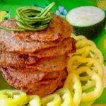 Оладьи из печени с кабачком и сладким перцем