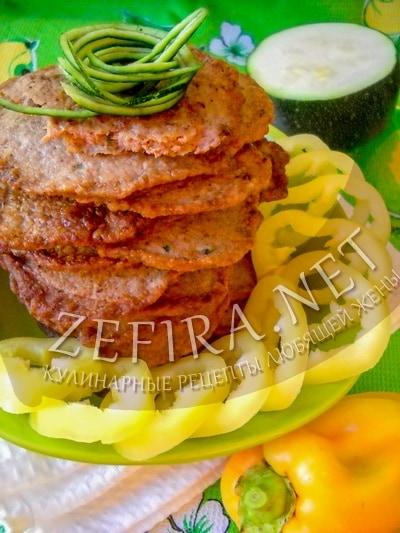 Оладьи из печени и кабачка - рецепт и фото