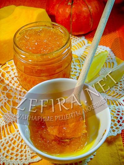 Рецепт варенья из тыквы с лимоном и апельсином - рецепт и фото
