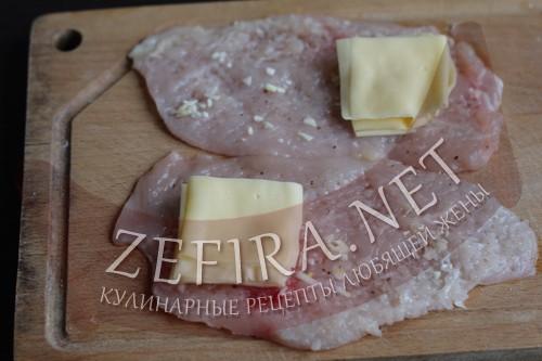 Куриные кармашки с сыром - шаг2