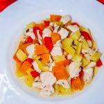 Овощное рагу с тыквой и куриным филе